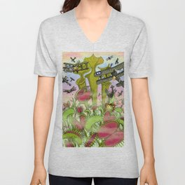 Plants Vs Planes Unisex V-Neck