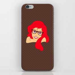Hipster Ariel iPhone Skin