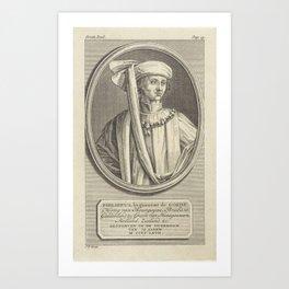Portrait of Philip the Good, Duke of Burgundy, Jan Punt, 1748 Art Print