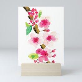 Cherry blossom watercolor Mini Art Print