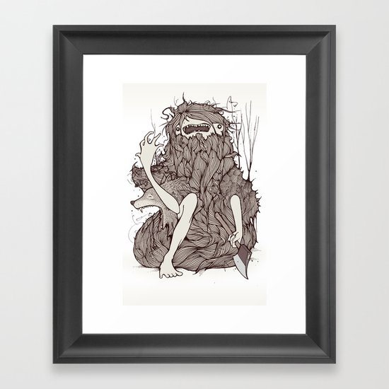 The forest is rotting Framed Art Print