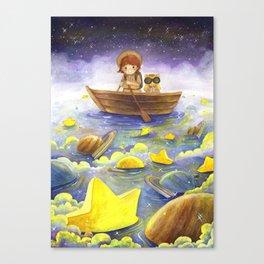 Floating stars Canvas Print