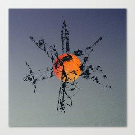 Splaaash Series - World Monument Ink Canvas Print
