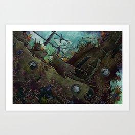 Shipwrecked Art Print