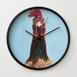 Hello Rooster Wall Clock