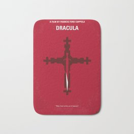 No263 My DRACULA minimal movie poster Bath Mat