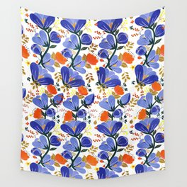folk spring flowers no2 Wall Tapestry