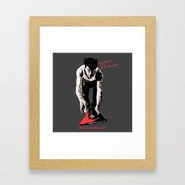 You better do it from the heart! Framed Art Print