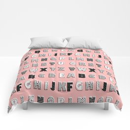 ABC Pink Comforters