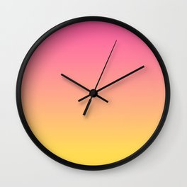 Pink and Yellow Ombre Print Wall Clock