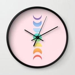 Not a Phase Moon Rainbow Wall Clock