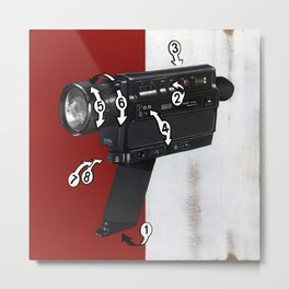 Bad Robot - Super8 Metal Print