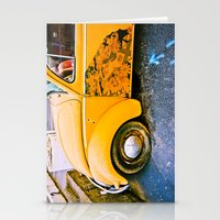 volkswagon Stationery Cards featuring vintage vw and door art by robertbuttery