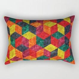 Colorful Isometric Cubes IV Rectangular Pillow