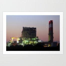 Power Station Lights Art Print