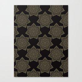 Intricate Star Arabesque Mandalas Canvas Print