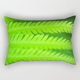a green Fern Rectangular Pillow