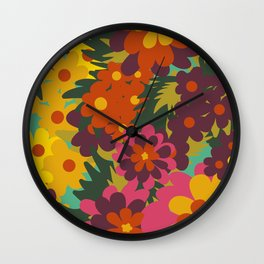 Flowers for Lola Wall Clock