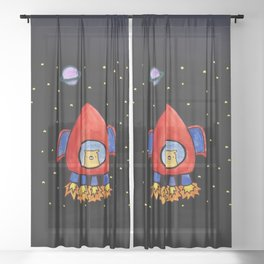 Impossible Astronaut Sheer Curtain
