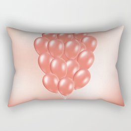 Balloon bunch in living coral Rectangular Pillow
