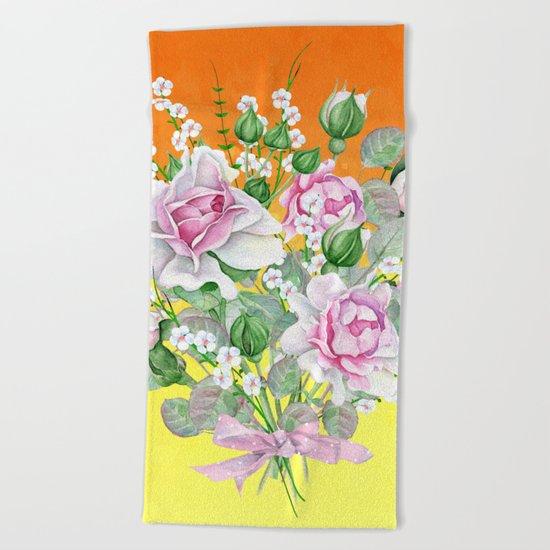 Flowers bouquet #22 Beach Towel
