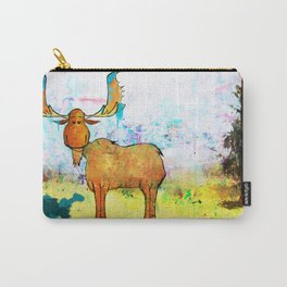 Blue Moose on the Loose ~Ginkelmier Carry-All Pouch