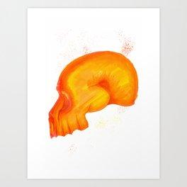 Red Skull Art Print
