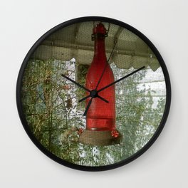 hummingbird feeder Wall Clock