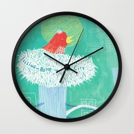 Feeling at home in a new city Wall Clock