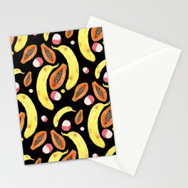 tropical juice (black) Stationery Cards