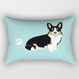 Corgi funny fart dog pure breed gifts dog lovers tricolored corgis Rectangular Pillow