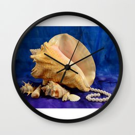 Conch shell art Wall Clock