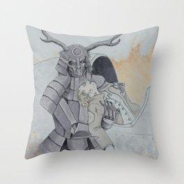 Iron Stag Rescues the Pilot Throw Pillow