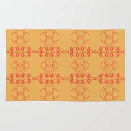 Luxury mandalas red gold Vint. Rug