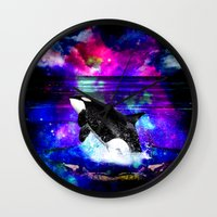 orca Wall Clocks featuring Orca by haroulita