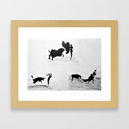 Bulls and bullfighters of Picasso IV Framed Art Print