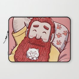 Full beard redhead man with cat Laptop Sleeve