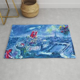 View of Paris by Marc Chagall Rug