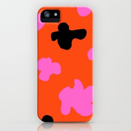 Grell 003 / A Dazzling 70's Pattern Of Black & Pink Spots iPhone Case