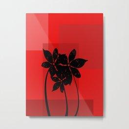 Black flowers Metal Print