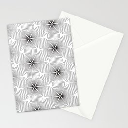 black and with flowers Stationery Cards