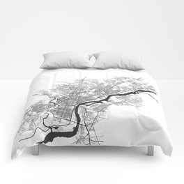 PHILADELPHIA MAP PRINT Comforters