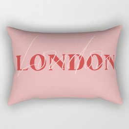 London Typography Design Rectangular Pillow