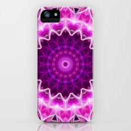 Bright pink mandala. iPhone Case