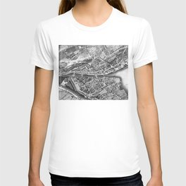 Vintage Map of Zurich Switzerland (1850) T-shirt