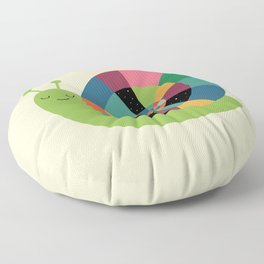 Snail Time Floor Pillow