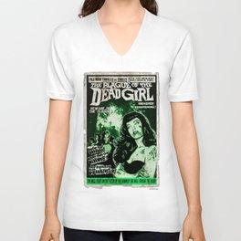"""DEAD GIRL SUPERSTAR """"THE PLAGUE OF THE DEAD GIRL"""" Unisex V-Neck"""