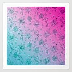 Summer Flower pattern Art Print