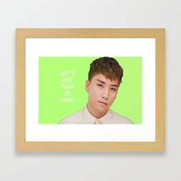 Bigbang MADE Let's Not Fall In Love Seungri Framed Art Print