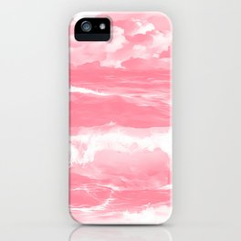 stormy sea waves reacpw iPhone Case